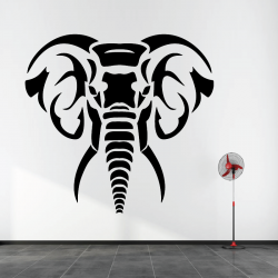 Sticker Mural Éléphant
