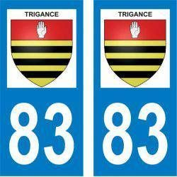 Sticker Plaque Trigance 83840