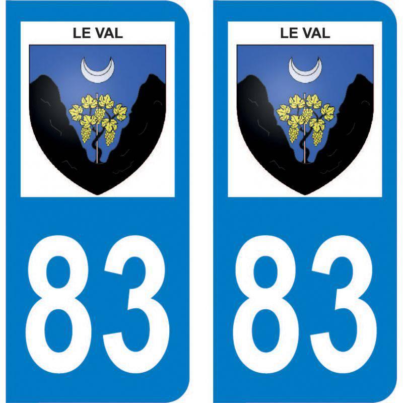 Autocollant Plaque Le Val 83143