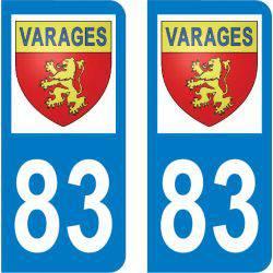 Autocollant Plaque Varages 83670