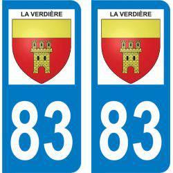 Autocollant Plaque La Verdière 83560