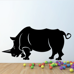 Sticker Mural Rhinoceros
