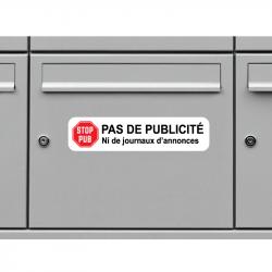 Sticker Pas De Publicité