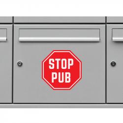 Sticker etiquette Stop Pub
