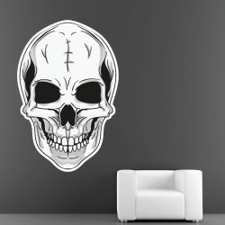 Sticker Mural Tête De Mort De Face - 1