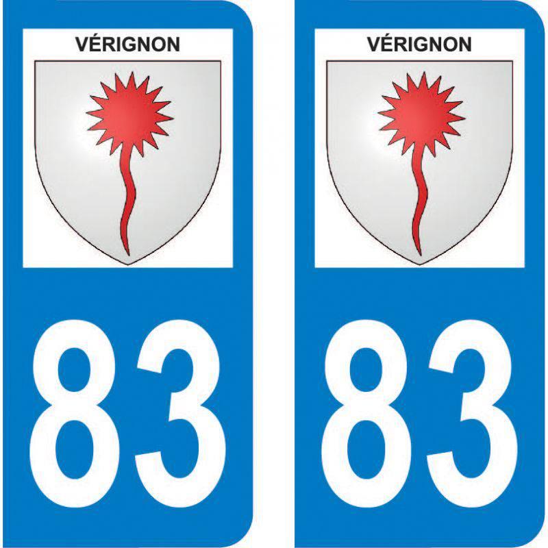 Autocollant Plaque Vérignon 83630
