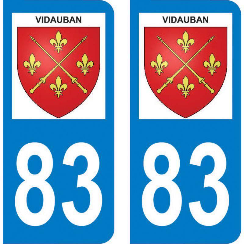 Autocollant Plaque Vidauban 83550