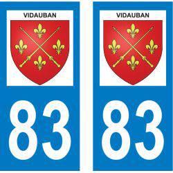 Sticker Plaque Vidauban 83550