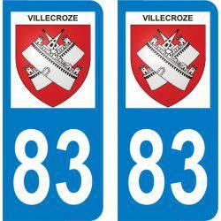 Autocollant Plaque Villecroze 83690