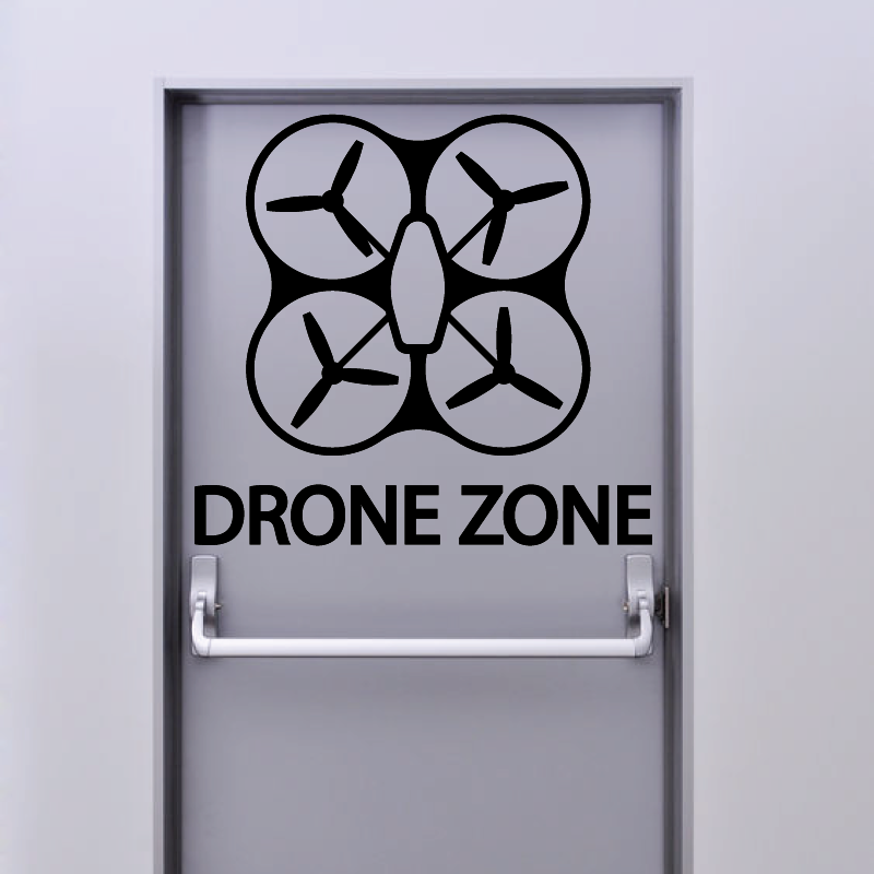 Sticker Drone Zone - 1