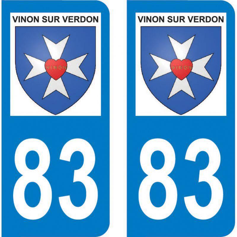 Autocollant Plaque Vinon-sur-Verdon 83560