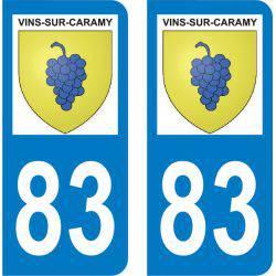 Autocollant Plaque Vins-sur-Caramy 83170