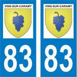 Sticker Plaque Vins-sur-Caramy 83170