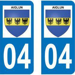 Autocollant Plaque Aiglun 04510