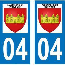 Sticker Plaque Allemagne-en-Provence 04500
