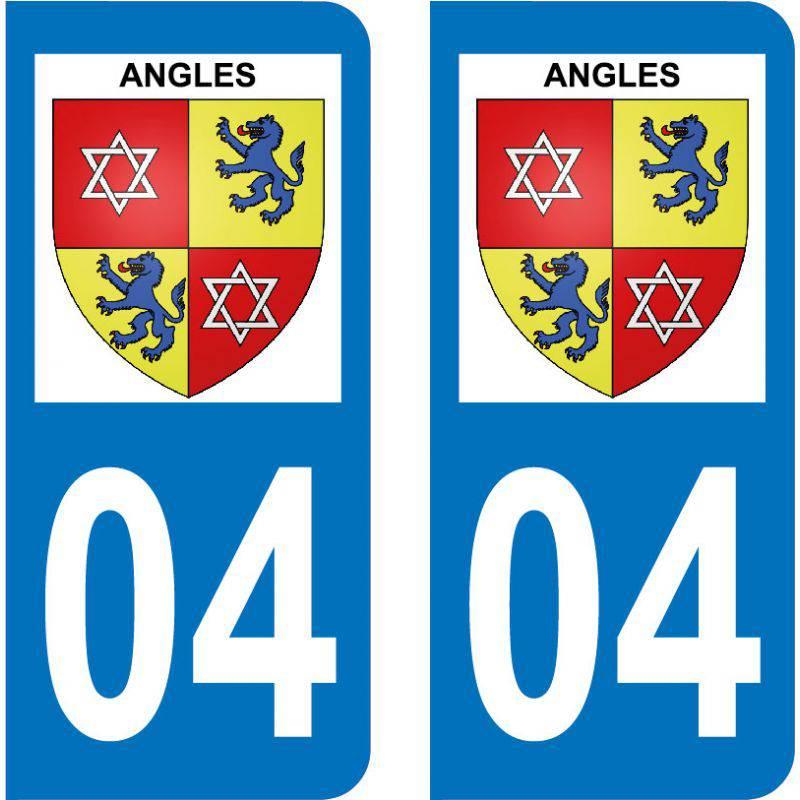 Autocollant Plaque Angles 04170