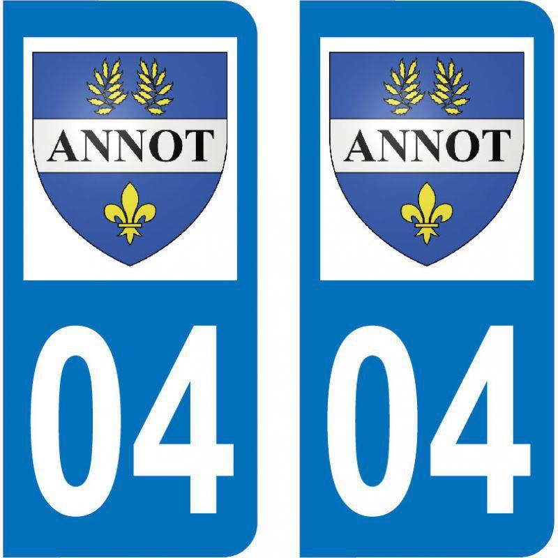 Autocollant Plaque Annot 04240