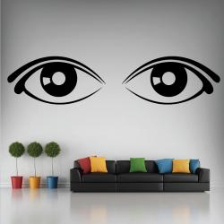 Sticker Mural Yeux