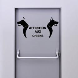 Sticker Attention Aux Chiens