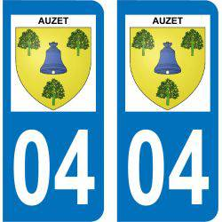 Autocollant Plaque Auzet 04140