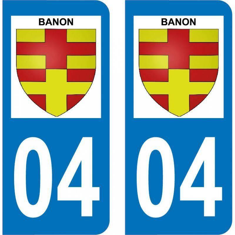 Autocollant Plaque Banon 04150