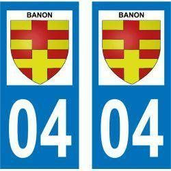 Sticker Plaque Banon 04150