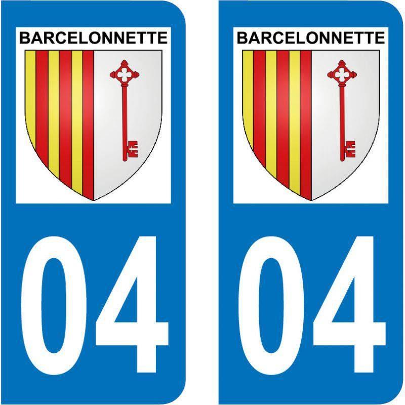 Autocollant Plaque Barcelonnette 04400