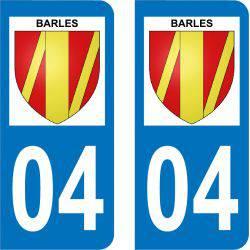 Autocollant Plaque Barles 04140