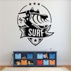 Sticker Mural Logo Surf