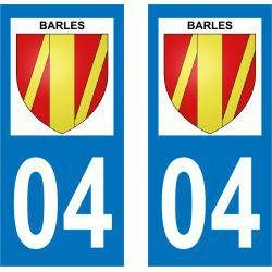 Sticker Plaque Barles 04140
