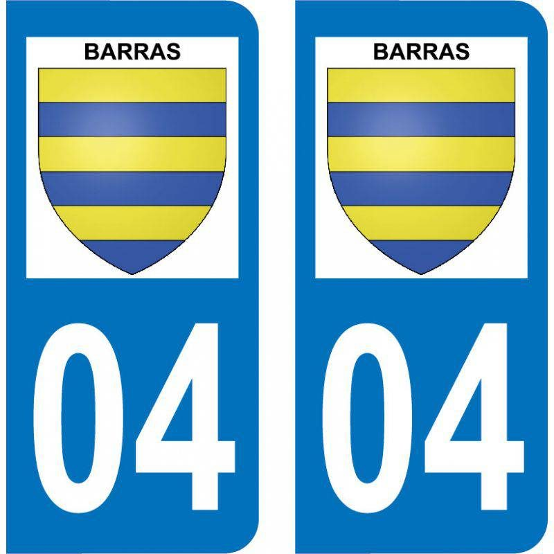 Autocollant Plaque Barras 04380
