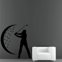 Sticker Mural Golfeur