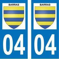 Sticker Plaque Barras 04380