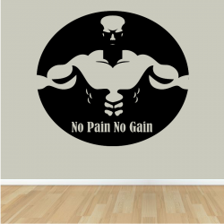 Sticker Mural No Pain No Gain
