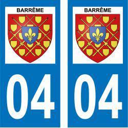 Sticker Plaque Barrême 04330