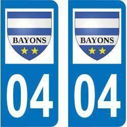 Autocollant Plaque Bayons 04250