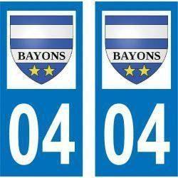 Sticker Plaque Bayons 04250