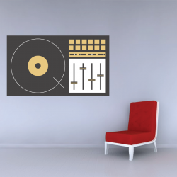 Sticker Mural Table De Mixage