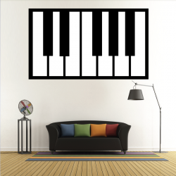 Sticker Mural Piano