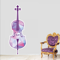 Sticker Mural Violon Cubiste