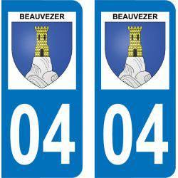 Autocollant Plaque Beauvezer 04370