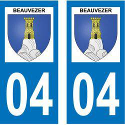 Sticker Plaque Beauvezer 04370