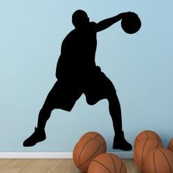 Autocollant Mural Basketteur