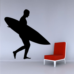 Sticker Mural Surfeur