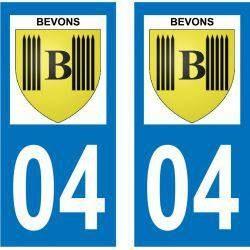 Sticker Plaque Bevons 04200
