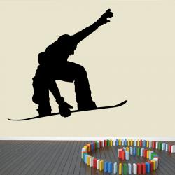Autocollant Mural Snowboarder