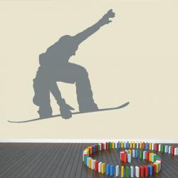 Autocollant Mural Snowboarder - 1