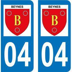 Autocollant Plaque Beynes 04270