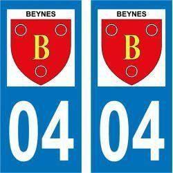 Sticker Plaque Beynes 04270