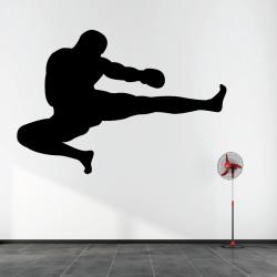 Sticker Mural Boxeur